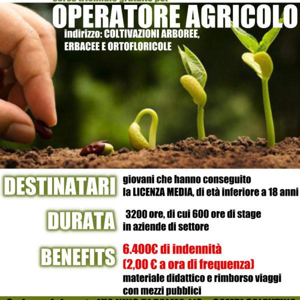 Operatore agricolo – Ind. 2: Coltivazioni arboree, erbacee e ortofloricole